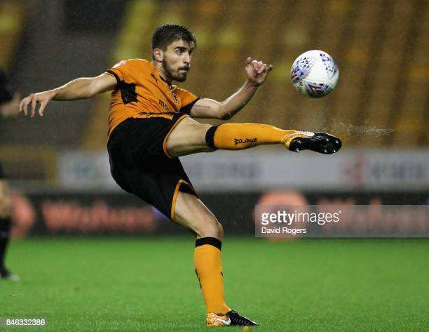 Ruben Neves of Wolverhampton Wanderers passses the ball during the Sky Bet Championship match between Wolverhampton and Bristol City at Molineux on...
