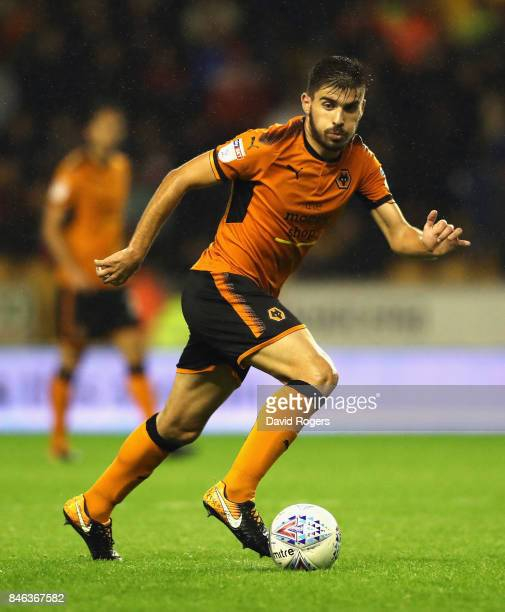 Ruben Neves of Wolverhampton Wanderers runs with the ball during the Sky Bet Championship match between Wolverhampton Wanderers and Bristol City at...