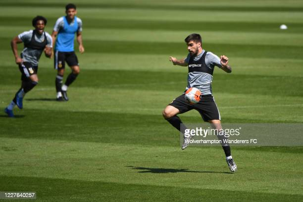 Ruben Neves of Wolverhampton Wanderers takes part in the isolated training session during the Coronavirus COVID19 lockdown at Sir Jack Hayward...
