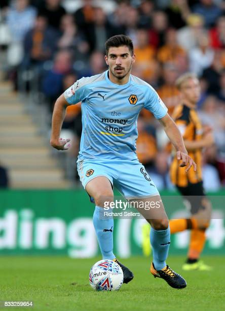 Ruben Neves of Wolves' during the Sky Bet Championship match between Hull City and Wolverhampton Wanderers at KCOM Stadium on August 15 2017 in Hull...