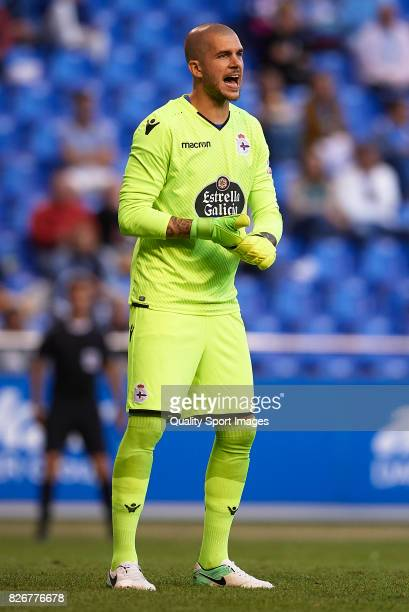 Ruben of Deportivo de La Coruna reacts during the Pre Season Friendly match between Deportivo de La Corua and West Bromwich Albion at Riazor Stadium...