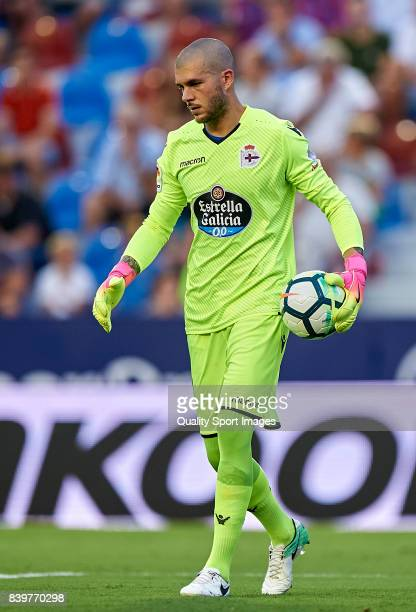 Ruben of Deportivo during the La Liga match between Levante and Deportivo La Coruna at Ciutat de Valencia on August 26 2017 in Valencia Spain