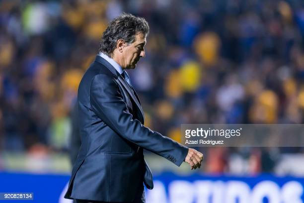 Ruben Omar Romano coach of Atlas leaves the field at the end of the 8th round match between Tigres UANL and Atlas as part of the Torneo Clausura 2018...