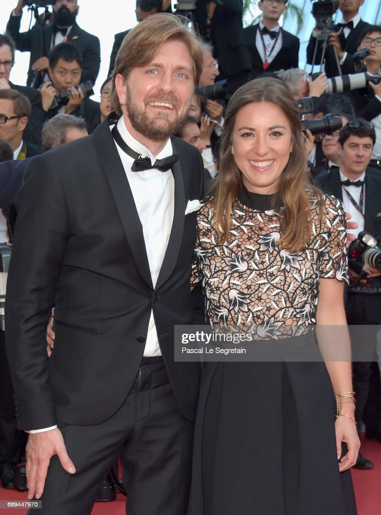 Ruben Ostlund and a guest attend the Closing Ceremony of the 70th annual Cannes Film Festival at Palais des Festivals on May 28, 2017 in Cannes, France.