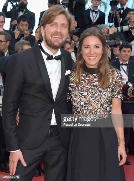 Ruben Ostlund and a guest attend the Closing Ceremony of the 70th annual Cannes Film Festival at Palais des Festivals on May 28 2017 in Cannes France