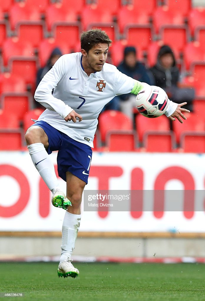 Ruben Pinto of Portugal in action during the international friendly match between U21 Czech Republic and U21 Portugal at Eden Stadium on March 31, 2015 in Prague, Czech Republic.