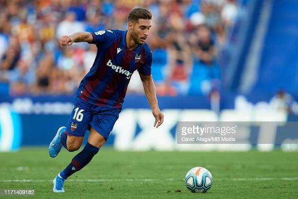 Ruben Rochina Naixes of Levante UD in action during the Liga match between Levante UD and Real Valladolid CF at Ciutat de Valencia on August 31 2019...