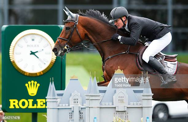 Ruben Romp of the Netherlands rides Audis Teavanta II C Z during the Spruce Meadows CP International Grand Prix on September 11 2016 in Calgary...