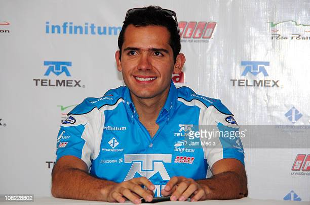 Ruben Rovelo during a press conference to present Telmex Team at Autodromo Hermanos Rodriguez on January 21 2010 in Mexico City Mexico