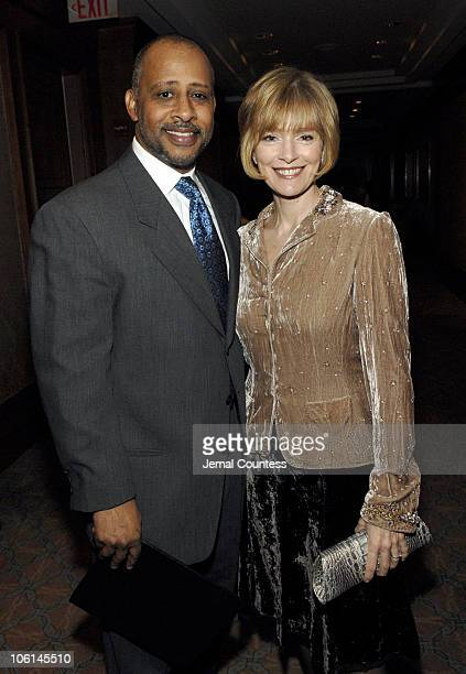 Ruben SantiagoHudson and Jeannie Santiago during Signature Theatre Company's Salute to August Wilson Arrivals at Ritz Carlton New York in New York...