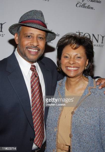 Ruben SantiagoHudson and Leslie Uggams during 60th Annual Tony Awards Cocktail Celebration at The Waldorf Astoria in New York City New York United...