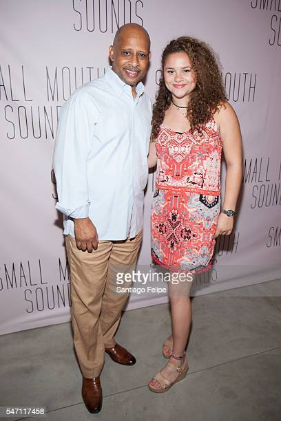 Ruben SantiagoHudson and Lily Hudson attend 'Small Mouth Sounds' opening night at The Pershing Square Signature Center on July 13 2016 in New York...
