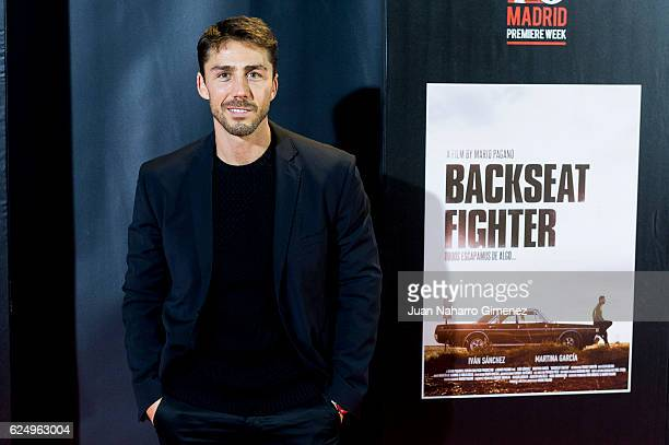 Ruben Sanz attends 'Backseat Fighter' premiere during the Madrid Premiere Week at Callao Cinema on November 21 2016 in Madrid Spain