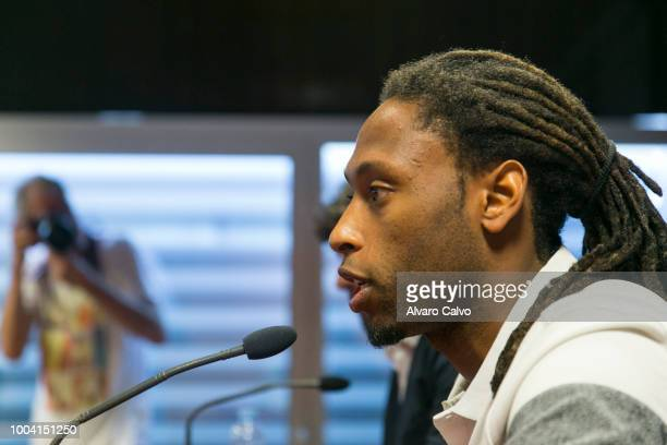 Ruben Semedo is presented as new player of Huesca Football team on July 20 2018 in Huesca Spain