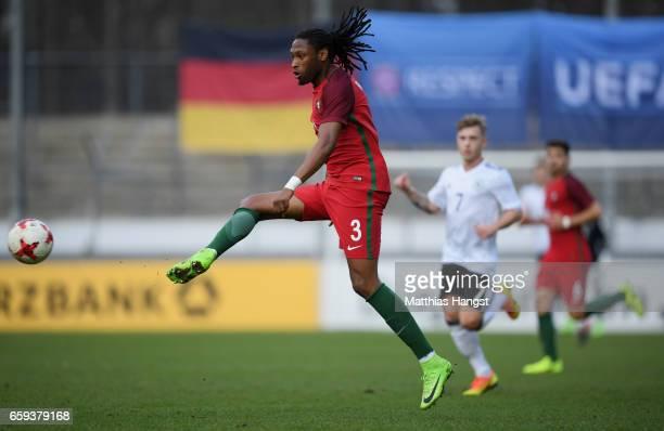 Ruben Semedo of Portugal controls the ball during the U21 International Friendly match between Germany U21 and Portugal U21 at GaziStadion auf der...