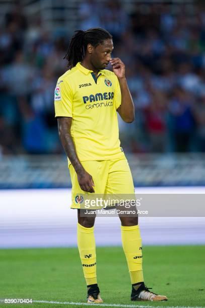 Ruben Semedo of Villarreal CF reacts during the La Liga match between Real Sociedad de Futbol and Villarreal CF at Estadio Anoeta on August 26 2017...