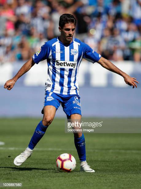 Ruben Sobrino Pozuelo of Deportivo Alaves CF during the La Liga Santander match between Deportivo Alaves v Espanyol at the Estadio de Mendizorroza on...