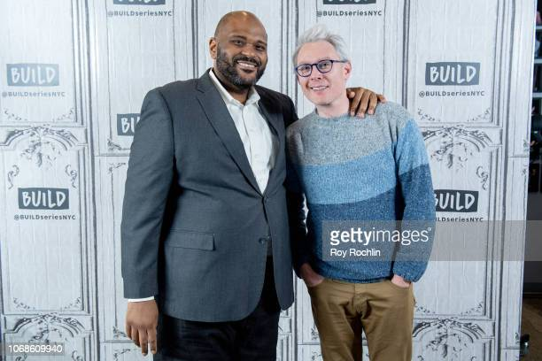 Ruben Studdard and Clay Aiken discuss 'Ruben Clay's First Annual Christmas Carol Family Fun Pageant Spectacular Reunion Show' with the Build Series...