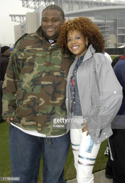 Ruben Studdard and Kelis during MTV's 'TRL' in Houston before Super Bowl XXXVIII at Relient Stadium in Houston Texas United States