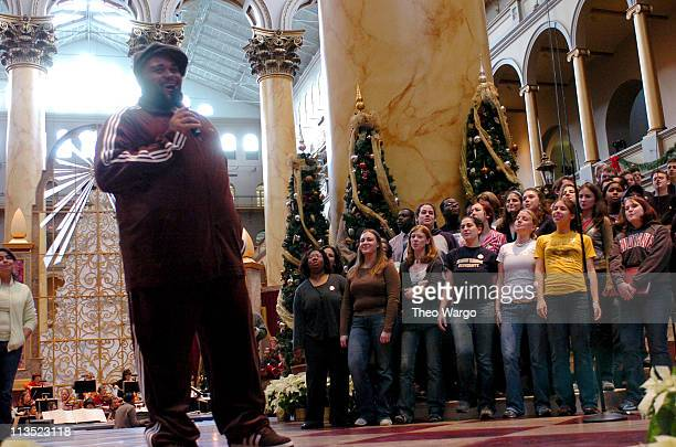 Ruben Studdard during TNT's Christmas in Washington 2004 Rehearsals at National Building Museum in Washington DC DC United States