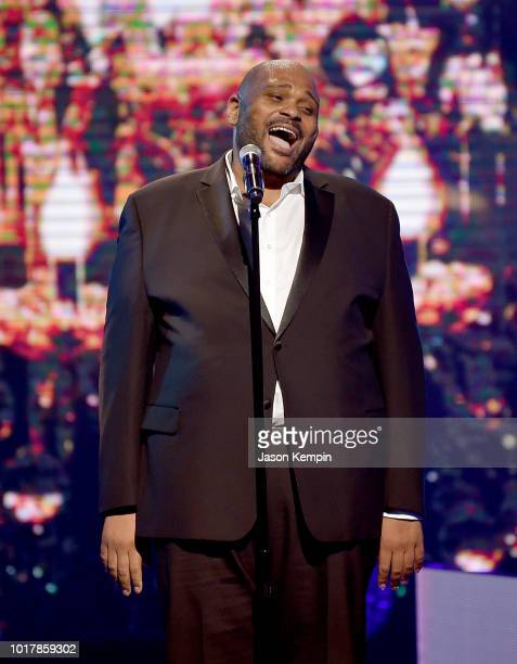 Ruben Studdard performs onstage during the 2018 Black Music Honors at Tennessee Performing Arts Center on August 16 2018 in Nashville Tennessee