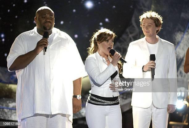 Ruben Studdard Winner of American Idol 2003 Kelly Clarkson and Clay Aiken