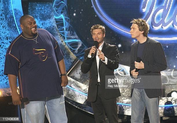 Ruben Studdard Winner of American Idol 2003 Ryan Seacrest and Clay Aiken