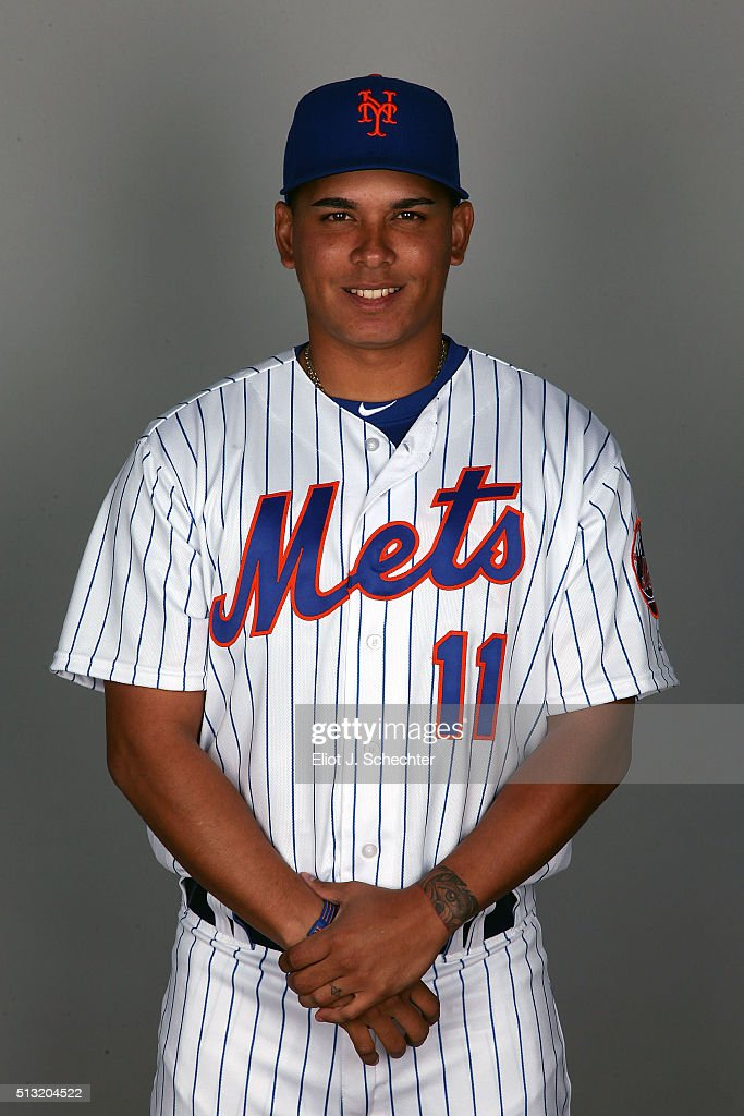 Ruben Tejada #11 of the New York Mets poses during Photo Day on Tuesday March 1, 2016 at Tradition Field in Port St. Lucie, Florida.