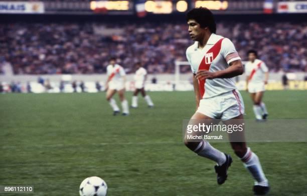 Ruben Toribio Diaz of Peru during the International Friendly match between France and Peru at Parc des Princes in Paris on April 28th 1982