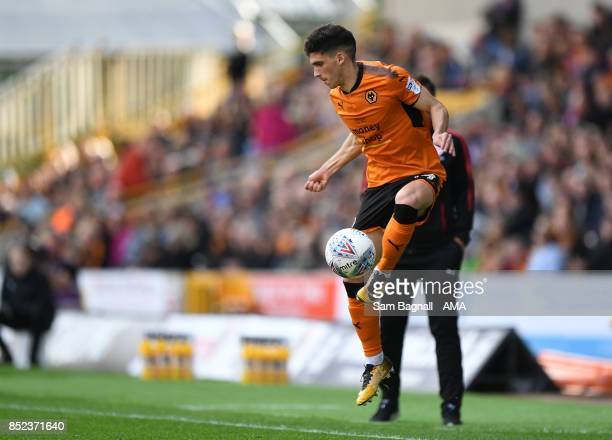 Ruben Vinagre of Wolverhampton Wanderers during the Sky Bet Championship match between Wolverhampton and Barnsley at Molineux on September 23 2017 in...
