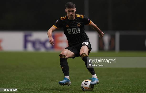 Ruben Vinagre of Wolverhampton Wanderers in action during the Group K UEFA Europa League match between SC Braga and Wolverhampton Wanderers at...