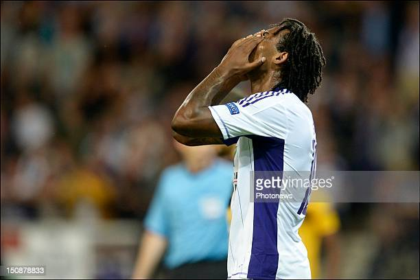 Rubenilson Dos Santos de Rocha of RSC Anderlecht reacts during the third qualifying round of the UEFA Champions League return match between RSC...