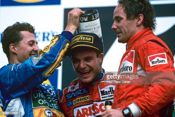 Rubens Barrichello Michael Schumacher Gerhard Berger Grand Prix of Pacific Okayama International Circuit 17 April 1994