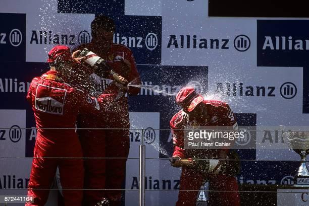 Rubens Barrichello, Michael Schumacher, Grand Prix of Europe, Nurburgring, 23 June 2002.