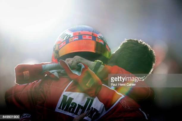 Rubens Barrichello Michael Schumacher Grand Prix of Japan Suzuka Circuit Suzuka Japan October 12 2003 Rubens Barrichello and Micheal Schumacher...