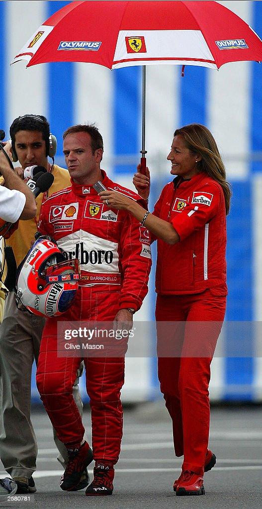 Rubens barrichello i pole position