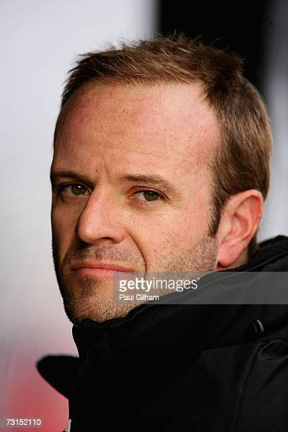 Rubens Barrichello of Brazil and Honda Racing looks on from the pitwall during Formula One testing at the Circuit Ricardo Tormo on January 30, 2007...