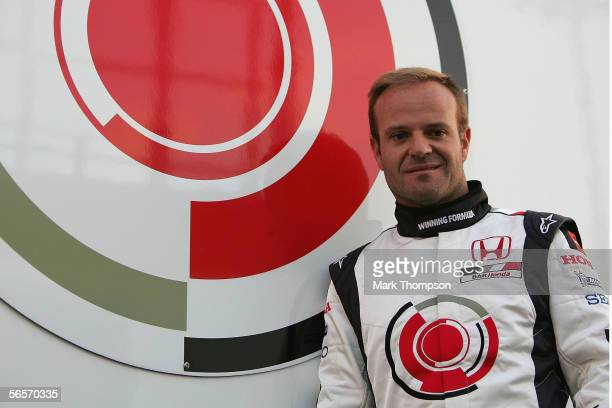 Rubens Barrichello of Brazil and team Honda poses during testing at Circuito de Jerez on January 11 2006 in Jerez Spain