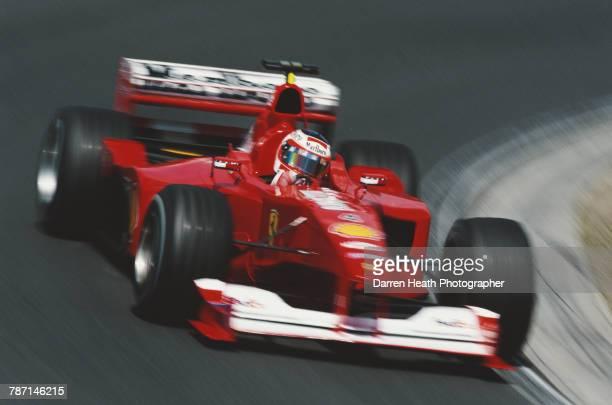 Rubens Barrichello of Brazil drives the Scuderia Ferrari Marlboro Ferrari F12000 Ferrari V10 at speed during the Formula One Hungarian Grand Prix on...