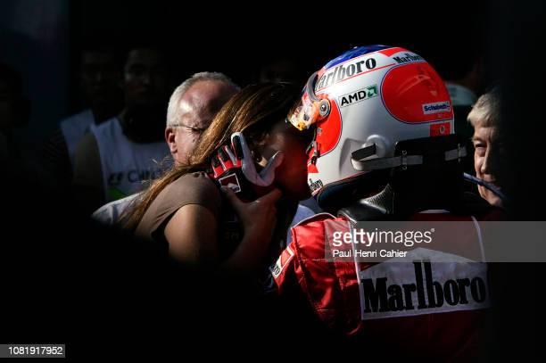Rubens Barrichello Silvana Barrichello Grand Prix of Chine Shanghai International Circuit 26 September 2004 Rubens Barrichello with his wife Silvana...