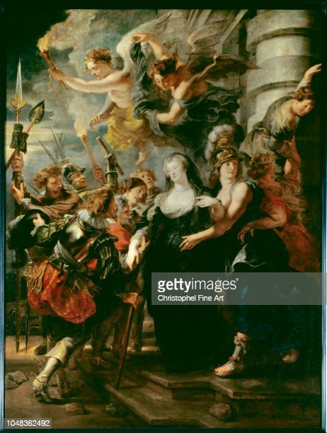 Rubens Peter Paul The Queen Marie de Medicis fleeing the castle of Blois in the night of 21 to 22 February 1619 Louvre Museum.