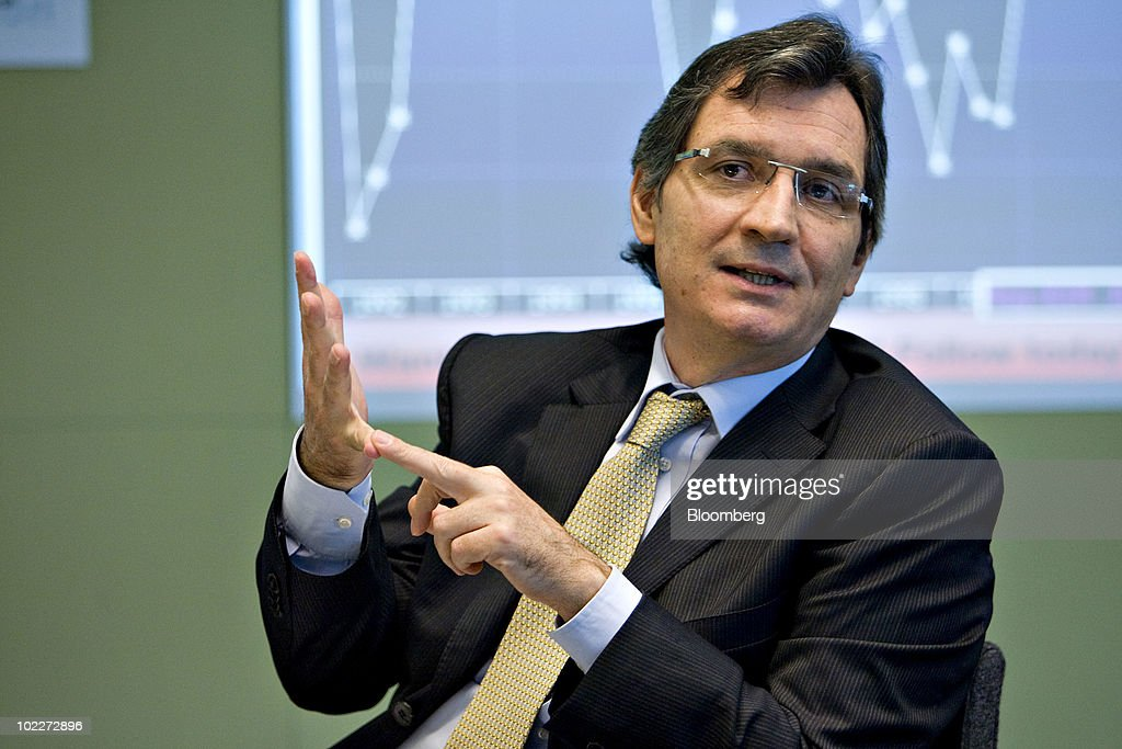 Rubens Sardenberg, chief financial officer of Nossa Caixa SA, speaks during an interview in New York, U.S., on Monday, June 21, 2010. More foreign institutional investors, such as pension funds and sovereign funds, are pouring money into Brazil's local government bonds, as confidence in Brazil's economic stability return to levels seen before the world financial crisis in 2008 and combines with the country's investment grade. Photographer: Daniel Acker/Bloomberg via Getty Images