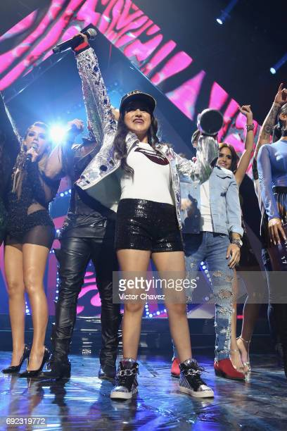 Rubi Ibarra Garcia speaks on stage during the MTV MIAW Awards 2017 at Palacio de Los Deportes on June 3 2017 in Mexico City Mexico