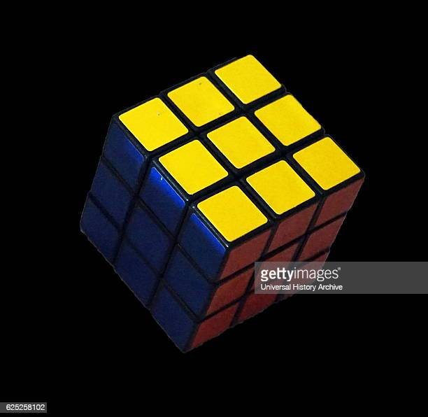Rubik's Cube a 3D combination puzzle invented 1974 by Hungarian sculptor and professor of architecture Ern Rubik Dated 20th Century