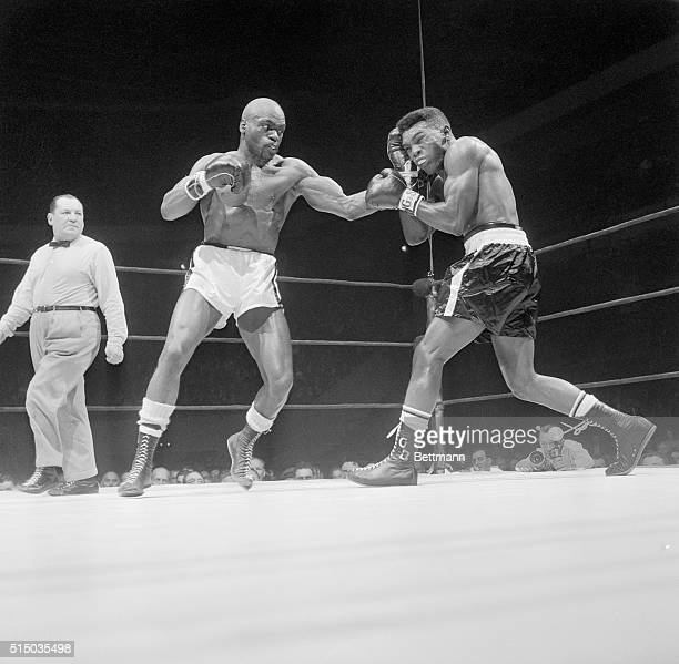 Rubin Hurricane Carter boxing Gomeo Brennan in a match Carter will win by a unanimous decision