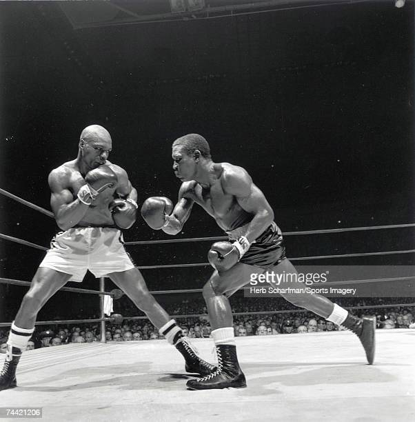 Rubin Hurricane Carter fights Dick Tiger in Madison Square Garden on May 20 l965 in New York New York