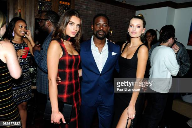 Rubina Dyan Sterling K Brown and Bregje Heinen attend Global Road Entertainment With The Cinema Society Host The After Party For Hotel Artemis at...