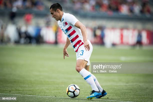 Rubio Rubin of the US Men's National Team sets up for the shot on goal during the International Friendly Match between United States Men's National...