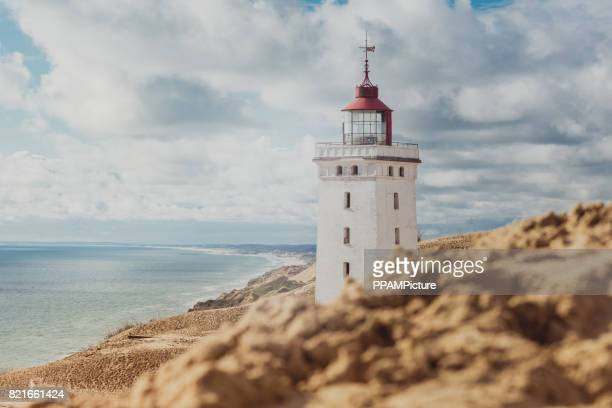 rubjerg knude lighthouse - lighthouse stock pictures, royalty-free photos & images