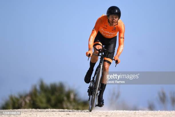 Rubén Fernández of Spain and Team Fundación - Orbea / during the 66th Vuelta a Andalucía - Ruta del Sol 2020, Stage 5 a 13km Individual Time Trial...